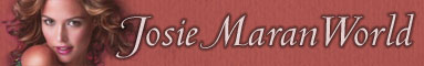 Josie Maran World official site banner