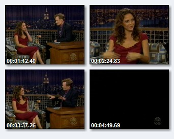 Josie Maran on Late Night with Conan O'Brien